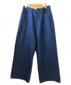 WESTOVERALLS(ウエストオーバーオールズ)の古着「850Bワイドデニムパンツ」 ブルー
