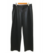 ()の古着「タックワイドパンツ」 ブラック