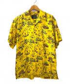 EDIFICE(エディフィス)の古着「コラボアロハシャツ」 イエロー