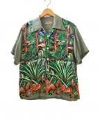 Sun Surf(サンサーフ)の古着「アロハシャツ」|グレー×グリーン
