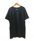 MM6 Maison Margiela(エムエムシックス メゾンマルジェラ)の古着「LOGO PRINT T-SHIRT」|ブラック