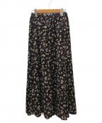 GARAGE OF GOOD CLOTHING(ガレージオブグッドクロージング)の古着「プリントマーメードスカート」|パープル