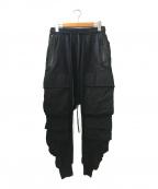 A.F ARTEFACT(エーエフ・アーティファクト)の古着「Military Sarouel Pants」|ブラック