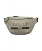 GUCCI(グッチ)の古着「プリントスモールベルトバッグ」|ホワイト