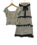 MERCURY DUO(マーキュリーデュオ)の古着「透かし編みニットセットアップ」|マルチ