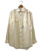 BROOKS BROTHERS(ブルックスブラザーズ)の古着「エポレットリネンシャツ」|アイボリー