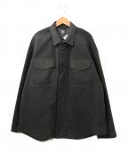 DESCENTE(デサント)の古着「モールCPOシャツジャケット」 チャコールグレー