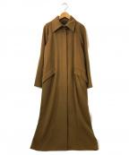 TOMORROW LAND collection(トゥモローランドコレクション)の古着「カシミヤステンカラーコート」|ブラウン