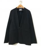 PLST(プラステ)の古着「マルチストレッチカラーレスジャケット」|ブラック