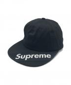 SUPREME()の古着「VISER LOGO 6PANEL CAP」|ブラック