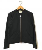 PUBLIC TOKYO(パブリックトウキョウ)の古着「ポンチセットアップシングルライダースジャケット」|ブラック