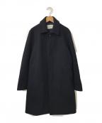 PUBLIC TOKYO(パブリックトウキョウ)の古着「メルトンステンカラーコート」|ネイビー