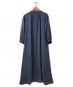 ReFLEcT(リフレクト)の古着「【洗える】スラブシャツワンピース」|ブルー