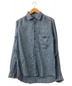 ()の古着「リネンシャツ」 ブルー