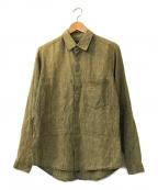 FRANK LEDER(フランクリーダー)の古着「シルク混リネンシャツ」 グリーン