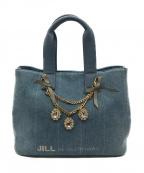 JILL BY JILLSTUART(ジルバイジルスチュアート)の古着「ジュエルリボントートバッグ」|ブルー