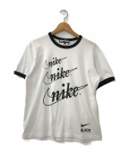 NIKE×BLACK COMME des GARCONS(ナイキ×ブラック コムデギャルソン)の古着「リンガープリントTシャツ」|ホワイト