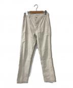 FRAMeWORK(フレームワーク)の古着「ムラ糸バックサテンベイカーパンツ」 ホワイト