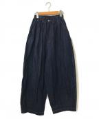 HARVESTY(ハーベスティー)の古着「10oz DENIM CIRCUS PANTS」 インディゴ