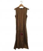ISABEL MARANT(イザベルマラン)の古着「シルクノースリーブワンピース」|ブラウン