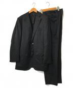 TOMORROW LAND PILGRIM(トゥモローランド ピルグリム)の古着「HORIZON TWILL 2ボタンスーツ」|ブラック
