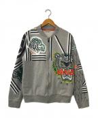 KENZO(ケンゾー)の古着「タイガージップアップスウェットブルゾン」|グレー