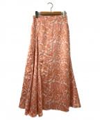 CELFORD(セルフォード)の古着「壁紙プリントスカート」|ピンク