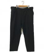 SUNSEA(サンシー)の古着「SNM-Blue2 Wide Straight Pants」 ブラック