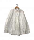 doublet(ダブレット)の古着「COMPRESSED STRIPE SHIRT IN THE」 ホワイト