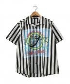 DIESEL(ディーゼル)の古着「S-TUBBY-ED SHIRT」|ブラック×ホワイト