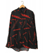 ()の古着「メッセージプリントシャツ」|ブラック