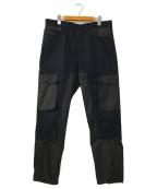 DIESEL Black Gold(ディーゼル ブラック ゴールド)の古着「コレクションデニム カーゴパンツ」|ブラック×ネイビー