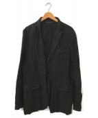 ()の古着「リネンテーラードジャケット」|ブラック
