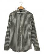 LARDINI(ラルディーニ)の古着「マルチストライプシャツ」 グレー