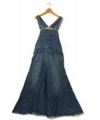 ()の古着「LE DENIM ボリュームフレアジャンパースカート」|ブルー