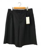 GUCCI(グッチ)の古着「タックウールショートパンツ」|ブラック