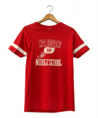 ()の古着「[古着]ヴィンテージプリントTシャツ」 レッド