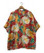 ()の古着「アロハシャツ」 オレンジ