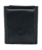 ()の古着「trifold wallet」 ブラック