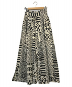 ()の古着「AFRICAN PRINT BUGGY PANTS」 ホワイト×ブラック