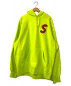 ()の古着「S Logo Hooded Sweatshirt」|アシッドグリーン
