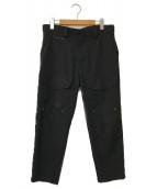 ()の古着「クロップドカーゴパンツ」|ブラック