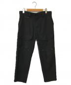 DIESEL()の古着「クロップドカーゴパンツ」|ブラック