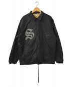 ()の古着「NYLON COACH JACKET」|ブラック
