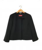 Max Mara Studio(マックスマーラ ストゥディオ)の古着「ノーカラージャケット」 ブラック