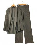 HIROKO KOSHINO(ヒロコ コシノ)の古着「千鳥柄デザインセットアップ」|グレー