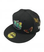 New Era(ニューエラ)の古着「Butterfly Garden グレーアンダーバイザー」|ブラック
