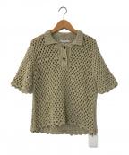 AKANE UTSUNOMIYA(アカネウツノミヤ)の古着「silk network t-shirt」 ベージュ