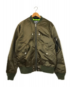 ()の古着「レースアップボンバージャケット」 オリーブ