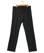 ()の古着「サイドラインイージーストレッチパンツ」 ブラック